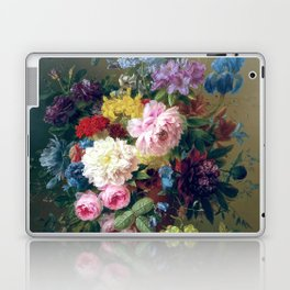 Arnoldus Bloemers - Flowers with Fruit and a Bird's Nest on a Marble Ledge Laptop & iPad Skin
