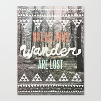 type Canvas Prints featuring Wander by Wesley Bird