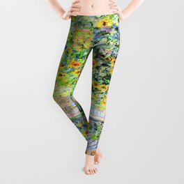 Monets Garden at Vetheuil Leggings