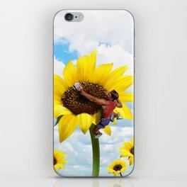 Yellow flower climbing iPhone Skin