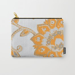 vintage paisley orange/grey Carry-All Pouch