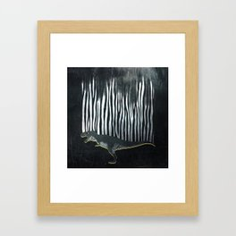zebrex - the tyrex who wanted to become a zebra  Framed Art Print