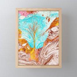 Golden Tree Framed Mini Art Print