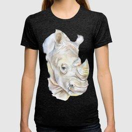 Rhino Watercolor T-shirt