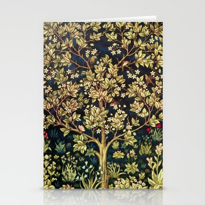 William Morris Tree Of Life Stationery Cards