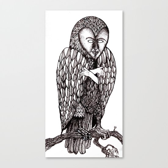Owl being Canvas Print