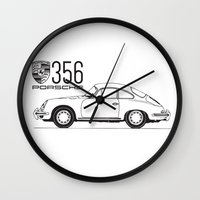 porsche Wall Clocks featuring porsche 356 by YsfKara
