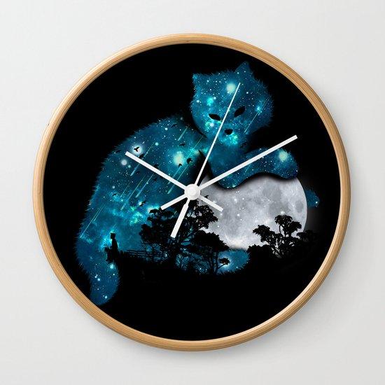 I can haz the moon Wall Clock