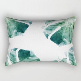 Watercolor Monstera Rectangular Pillow