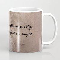 maori Mugs featuring Strength in Unity - Defeat in Anger - Maori Wisdom - metalic by Sonia Therese Design