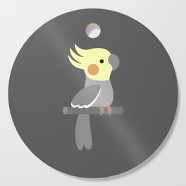 Cute cockatiel Cutting Board
