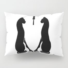 Egyptian Cat's with a Black Ankh Pillow Sham