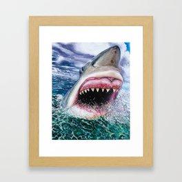 White Shark in Africa Framed Art Print