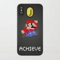 mario iPhone & iPod Cases featuring Mario by eARTh