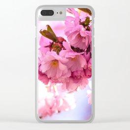 Pink Japanese Cherry Blossom, Sakura Clear iPhone Case