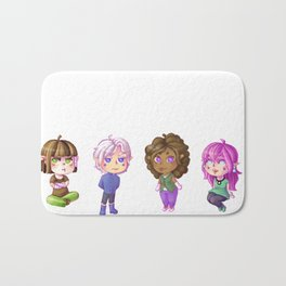 Chibi elves Bath Mat
