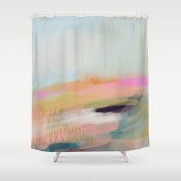 Beyond Sight - Pink Horizons Shower Curtain