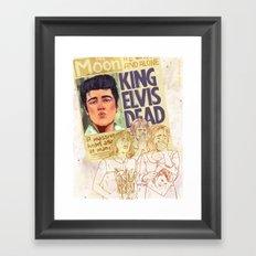 Elvis is dead Framed Art Print