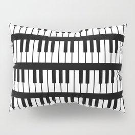 Black And White Piano Keys Pattern Pillow Sham