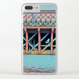 Rusty Bridge Clear iPhone Case