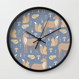 Adorable and Lovely Animals Pattern Wall Clock