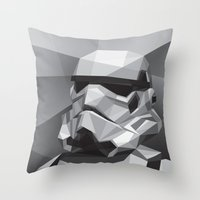 stormtrooper Throw Pillows featuring Stormtrooper by Filip Peraić