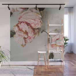 Dried Pink Flowers Wall Mural