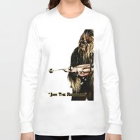 chewbacca Long Sleeve T-shirts featuring Chewbacca by KL Design Solutions