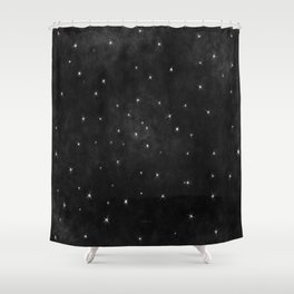 Whispers in the Galaxy-B&W Shower Curtain