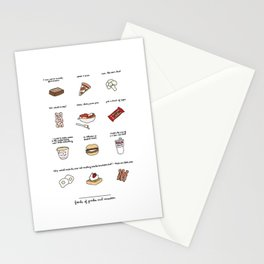 Foods of Parks and Rec Stationery Cards