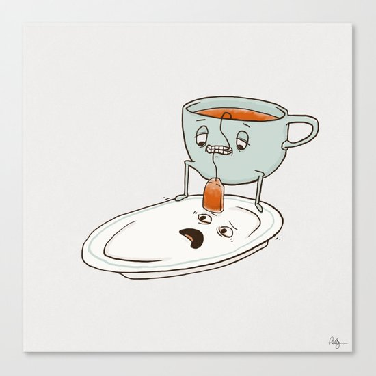 Tea Baggin' Canvas Print