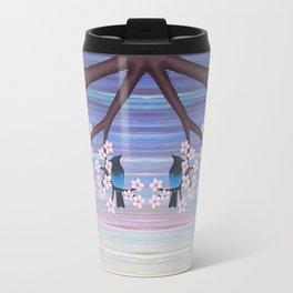 Steller's jays and cherry blossoms Travel Mug