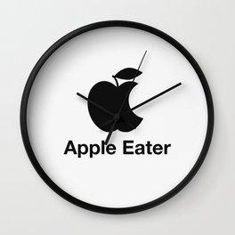 Apple eater Wall Clock