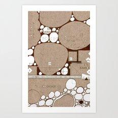 Rock Blueprint Art Print