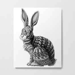 Ornate Rabbit Metal Print