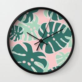 Monstera Tropical Wall Clock