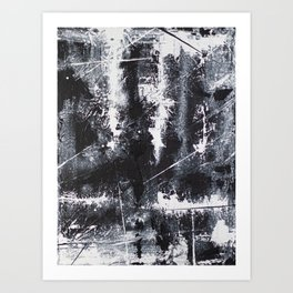 #2 TEXTURED MODERN ABSTRACT PAINTING Art Print