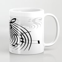 music notes Mugs featuring Music Notes by Svetlana Sewell