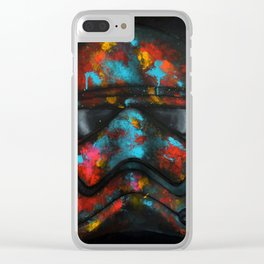 StarWars Stormtrooper Abstract Splash Painting Clear iPhone Case