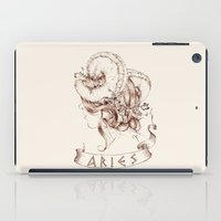 aries iPad Cases featuring Aries by Morgan Ofsharick - meoillustration