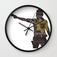 rick grimes Wall Clocks featuring Rick Grimes with Quotes by rlc82