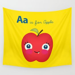 A is for Apple Wall Tapestry