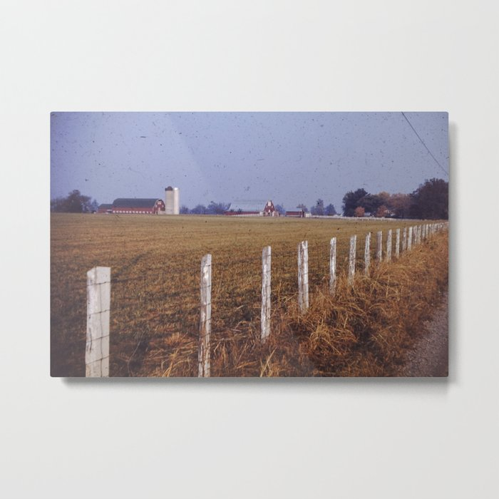 Farm and Field Metal Print