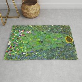 Sunflower - Gustav Klimt Rug