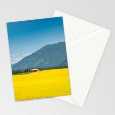 Canola farm Stationery Cards
