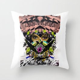 Kim K Art Collage Throw Pillow
