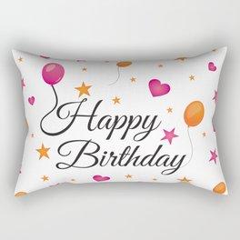 Happy Birthday Rectangular Pillow