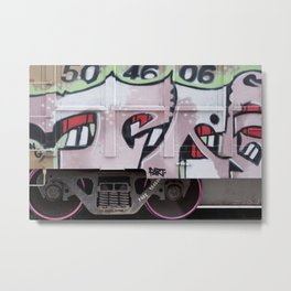 Boxcar Grafitti Metal Print