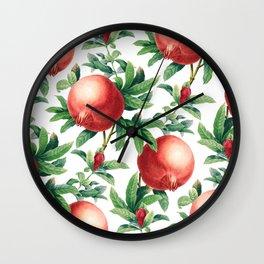 Pomegranate pattern II Wall Clock