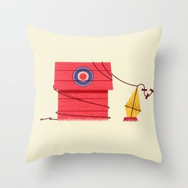 The Red Baron or Snoopy's Doghouse Throw Pillow